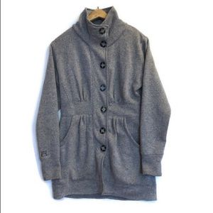 Avalanche Gray Sweater Jacket Button Up. Medium